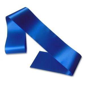 blank royal blue sash