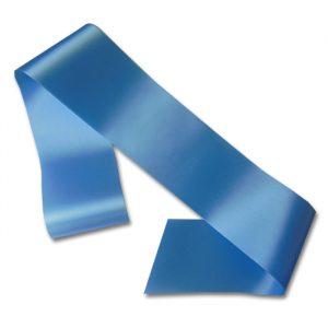 blank pale blue sash