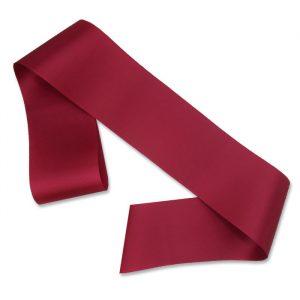 burgundy blank sash