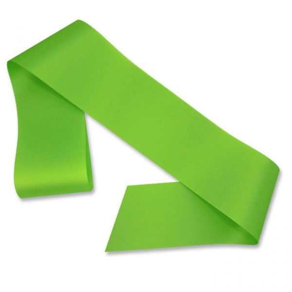 lime green blank sash