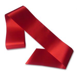 blank red sash