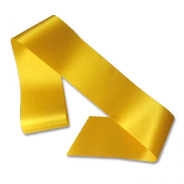 blank yellow sash