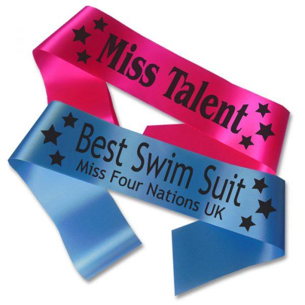stars beauty pageant sash