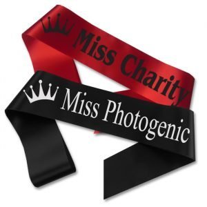 crown pageant sash
