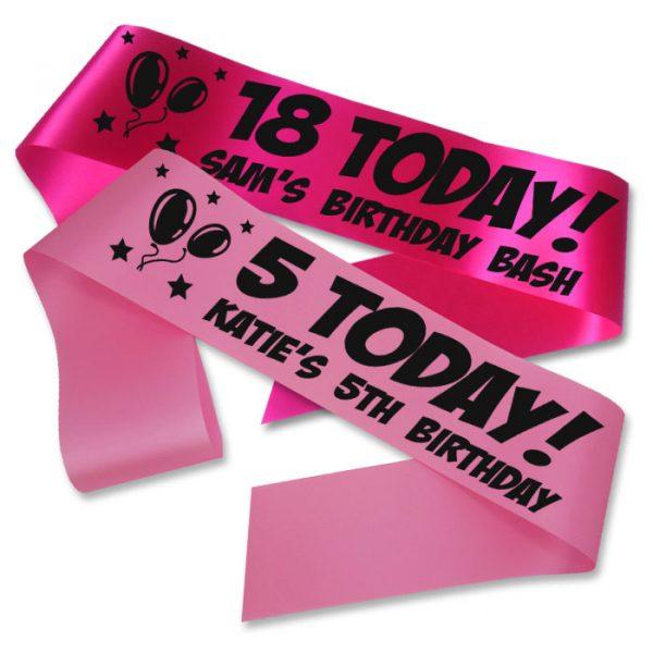 birthday sash any age