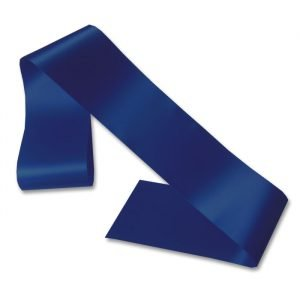 navy blue blank sash