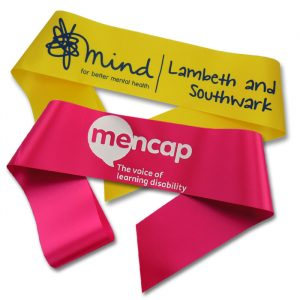 charity fundraising sashes