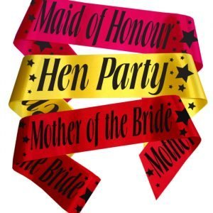 stars hen party sash