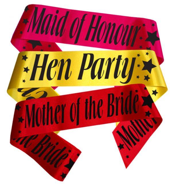 stars hen party sash