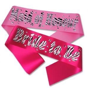 zebra print sash