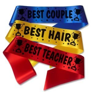 school prom trophy award sashes