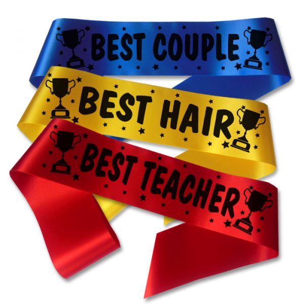 school prom trophy award sashes
