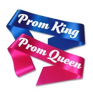 prom king and queen sash pack
