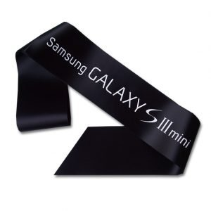 black promotional sash