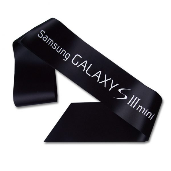 black promotional sash