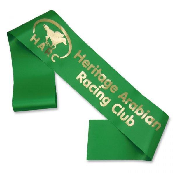 logo print horse sash